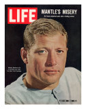 NY Yankee Slugger Mickey Mantle, July 30, 1965 Fotografisk trykk av John Dominis