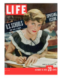 Special Issue on US Schools, October 16, 1950 Reproduction photographique par Alfred Eisenstaedt