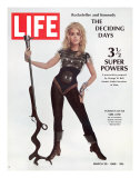 Actress Jane Fonda Wearing Space-Age Costume for Role in &quot;Barbarella&quot;, March 29, 1968 Photographic Print by Carlo Bavagnoli