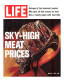 Sky-High Meat Prices, April 14, 1972 Photographic Print by Co Rentmeester