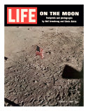 American Flag Planted on Moon, August 8, 1969 Premium Photographic Print