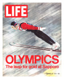 Olympics, Ski Jumper Yukio Kasaya, February 18, 1972 Premium Photographic Print by John Dominis