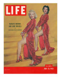 """Actresses Marilyn Monroe and Jane Russell in Scene from """"Gentlemen Prefer Blondes"""", May 25, 1953 Premium Photographic Print by Ed Clark"""