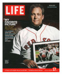 Red Sox Pitcher, Curt Schilling, Holding Photo of 2004 World Series Victory, December 17, 2004 Photographic Print by John Huet