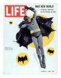Adam West as Superhero Batman, March 11, 1966 Premium Photographic Print by Yale Joel