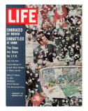 US President John F. Kennedy Getting Ticker Tape Reception During a Visit to Mexico, July 13, 1962 Premium Photographic Print by John Dominis