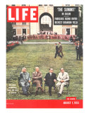 Eisenhower, Bulganin, Faure, and Eden, August 1, 1955 Premium Photographic Print by Frank Scherschel