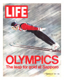 Olympics, Ski Jumper Yukio Kasaya, February 18, 1972 Photographic Print by John Dominis