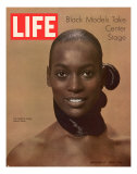 Model Naomi Sims, Black Models Take Center Stage, October 17, 1969 Photographic Print by Yale Joel