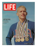 Don Schollander with his Four Olympic Gold Medals Won in Swimming Events, October 30, 1964 Photographic Print by John Dominis