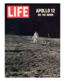 Apollo 12 on the Moon, Astronaut on the Moon, December 12, 1969 Fotodruck
