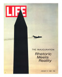 The Inauguration: Rhetoric Meets Reality, Washington Monument and Plane, January 31, 1969 Photographic Print by George Silk