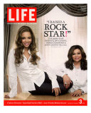 Portrait of Pop Music Star Beyonce and Mother Tina Knowles at Home, February 3, 2006 Photographic Print by Karina Taira