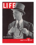 Columnist and Fashion Trendsetter Lucius Bebe, January 16, 1939 Photographic Print by Rex Hardy Jr.