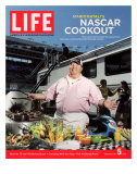 Chef Mario Batali Preparing a NASCAR Cookout at Texas Motor Speedway, May 5, 2006 Photographic Print by Brian Finke