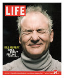 Actor Bill Murray with Eyes Closed, December 24, 2004 Premium Photographic Print by Karina Taira