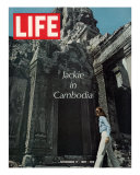 Jacqueline Kennedy in Cambodia, November 17, 1967 Photographic Print by Larry Burrows