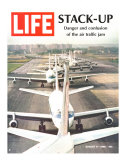 Stack-Up, Air Traffic Jam, August 9, 1968 Premium Photographic Print by Bob Gomel
