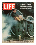 Singer Johnny Cash, November 21, 1969 Reproduction photographique sur papier de qualité par Michael Rougier