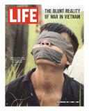 Viet Cong Prisoner of Cape Batangan Battle, Awaiting Transfer to US POW Compound, November 26, 1965 Photographic Print by Paul Schutzer