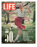 Girl using Hula Hoop, Revival of Fashions and Fads of the 1950's, June 16, 1972 Photographic Print by Bill Ray