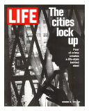 The Cities Lock Up, Woman at Gated Window, November 19, 1971 Photographic Print by John Loengard