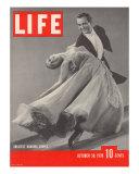 Top Ballroom Dancers, Frank Veloz and Yolanda Casazza, October 30, 1939 Fotografie-Druck von Gjon Mili