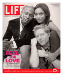 Rent Co-stars Taye Diggs, Rosario Dawson and Anthony Rapp, November 25, 2005 Lámina fotográfica por Karina Taira