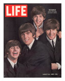 The Beatles, Ringo Starr, George Harrison, Paul Mccartney and John Lennon, August 28, 1964 Reproduction photographique sur papier de qualit&#233; par John Dominis
