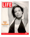 Portrait of Actress Rosario Dawson, November 25, 2005 Premium Photographic Print by Karina Taira
