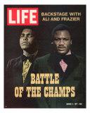 Boxers Muhammad Ali and Joe Frazier, March 5, 1971 Premium-Fotodruck von John Shearer