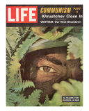 Camouflaged US Soldier Training for Vietnam / LIFE Cover: October 27, 1961 Ralph Morse