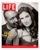 Rent Co-stars Jesse L. Martin and Idina Menzel, November 25, 2005 Photographic Print by Karina Taira