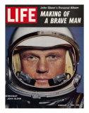 Astronaut John Glenn, Making of a Brave Man, February 2, 1962 Premium-Fotodruck von Ralph Morse