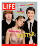 Co-stars of Harry Potter films Rupert Grint, Emma Watson and Daniel Radcliffe, November 18, 2005 Photographic Print by Kayt Jones