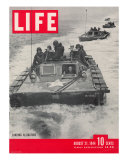 American Amphibious Tractors, Alligators, in action, August 21, 1944 Photographic Print by John Florea