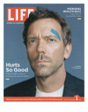 Portrait of Actor Hugh Laurie, September 1, 2006 Premium Photographic Print by Cass Bird
