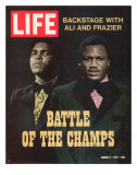 Boxers Muhammad Ali and Joe Frazier, March 5, 1971 Premium Photographic Print by John Shearer