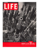 Artillery in the Brooklyn Navy Yard, Guns For Merchantmen, February 23, 1942 Premium Photographic Print by George Strock
