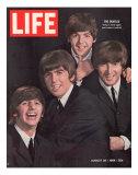 The Beatles, Ringo Starr, George Harrison, Paul Mccartney and John Lennon, August 28, 1964 プレミアム写真プリント : ジョン・ドミニス