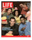Stars of Madagascar, David Schwimmer, Jada Pinkett Smith, Chris Rock and Ben Stiller, May 27, 2005 Photographic Print by George Lange
