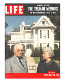 The Truman Memoirs, Former Pres. Harry Truman and Wife, September 26, 1955 Photographic Print by Eliot Elisofon