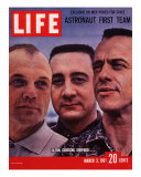 Portrait of Mercury Astronauts John Glenn, Gus Grissom and Alan Shepard, March 3, 1961 Photographic Print by Ralph Morse