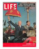 Dwight D. Eisenhower with Pakistani President Ayub, December 21, 1959 Photographic Print by Paul Schutzer