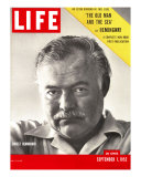 Author Ernest Hemingway Taken, September 1, 1952 Reproduction photographique sur papier de qualité par Alfred Eisenstaedt