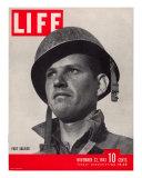 Foot Soldier Sargeant Estel Able, November 22, 1943 Photographic Print by Eliot Elisofon
