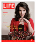 British TV Chef and Cookbook Author Nigella Lawson with Bowl of Cherries, December 9, 2005 Premium Photographic Print by Harry Borden
