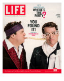 Actors Nathan Lane and Matthew Broderick Getting the Last Laugh of 2005, December 30, 2005 Photographic Print by George Lange