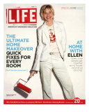 TV Talkshow Host Ellen DeGeneres Holding Paint Roller for Home Makeover Feature, May 20, 2005 Photographic Print by Guy Aroch