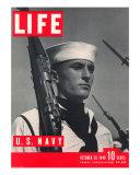 U.S. Sailor Joseph John Timpani, October 28, 1940 Photographic Print by W. Eugene Smith